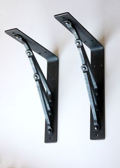 Metal iron hand forged shelf bracket corbel by BlacksmithArts