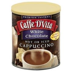 Enjoy Caffe D'Vita Cappuccino White Chocolate (6x16Oz). Arabic coffees, unique creamer and premium ingredients in your favorite flavors. Combine with ice and water and blend smooth and creamy. No Hydrogenated Oils · No Trans Fat · Gluten Free · Kosher-Dairy. Note: description is informational only. Please refer to ingredients on the product before use. Please address any health or dietary questions to your health professional before using this item.      | Shop this product here…