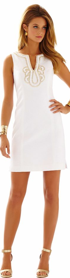 Today! Found. My. Dress. #beachelopement Lilly Pulitzer Janice Shift in Resort White
