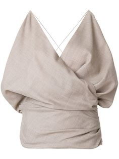 Shop Jacquemus draped camisole top.
