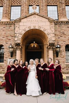 Outdoor Fall Wedding Ceremony with Velvet Pumpkins and Vegan Eats – Toledo Fall Wedding Photography Velvet Bridesmaid Dresses, Winter Bridesmaid Dresses, Winter Bridesmaids, Wedding Bridesmaid Dresses, Fall Dresses, Wedding Gowns, Formal Dresses, Red Velvet Dress, Velvet Dresses