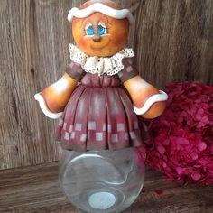 Pote Baleiro Ginger em Biscuit Country por DI Biscuit Orçamentos e Encomendas no: iterlano.rocha@gmail.com  Ou no (85)3062-6912 ou 8711-1808