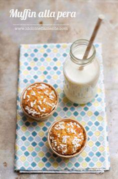I dolci nella mente: Muffin alla pera....e benvenuta primavera!!