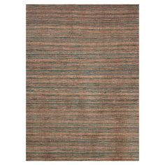 Hand-woven eco-friendly hemp rug with a striped motif.  Product: RugConstruction Material: HempColor...