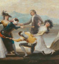 """Detalle de """"La gallina ciega"""", Goya 1788. Museo del Prado."""