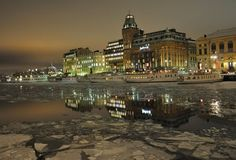 Stockholm late winter afternoon