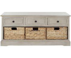 Банкетка - сосна - серый, 106х39х50,03 см | Westwing Интерьер & Дизайн