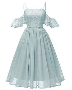 DressilyMe Bridal Dresses Online,Wedding Dresses Ball Gown, in stock beautiful lace chiffon spaghetti straps neckline knee length a line bridesmaid dress – Mode - Home & Women Mode Outfits, Dress Outfits, Fashion Dresses, Party Outfits, Night Outfits, Party Clothes, Trendy Outfits, Ball Dresses, Ball Gowns