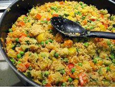 Kuskus s dýňovými semínky - Healthy Sweets, Healthy Eating, Vegetarian Recipes, Healthy Recipes, Couscous, Fried Rice, Tofu, Food Art, Dairy Free