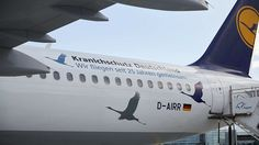 """Lufthansa's """"Wismar"""" aircraft with special design for the 25th anniversary of Crane Protection Germany"""