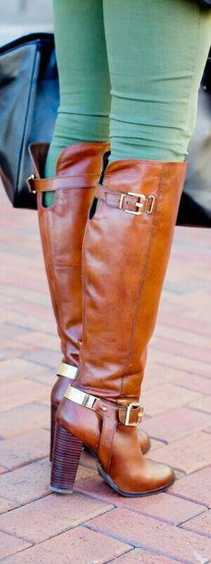Cognac Boots