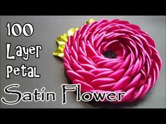 100 Layer Satin Flower | MyInDulzens #100layerchallenge - YouTube