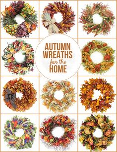 Autumns Wreaths for the Home #wreaths