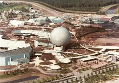 EPCOT Construction from the Air - Imagineering Disney