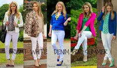Bright White Denim - 5 ways to style it! #ThisisStyle #shop #cbias