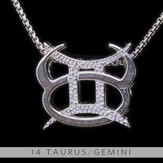 14 Taurus and Gemini Silver Unity Pendant. $99.99, via Etsy.