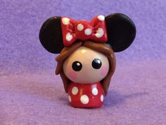 Chibi: Girl Dressed as Minnie Mouse. £7.00, via Etsy.