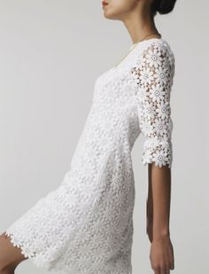 Mod Wedding Dress. I've always been fascinated by the texture of 60s lace. Sort of pop-culture in a textile.