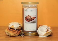 cinnamon-bun A union of cinnamon and vanilla cake with a tinge of sweet icing. This candle smells just like Cinnamon Buns! This is one of our top consistent sellers as it has a nice strong cold and hot throw but not overwhelming either =) Candle Rings, Jewelry Candles, Candle Jars, Best Candles, Soy Wax Candles, Fall Scents, 6 Pack, Vanilla Cake, Valentines