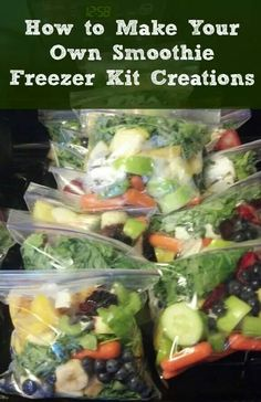 green smoothie kits How to Make Your Own Smoothie Freezer Kit Creations. Freezer Breakfast MealsHow to Make Your Own Smoothie Freezer Kit Creations. Healthy Smoothies, Healthy Drinks, Healthy Snacks, Healthy Eating, Healthy Recipes, Freezer Smoothies, Smoothie Prep, Make Ahead Smoothies, Juice Smoothie