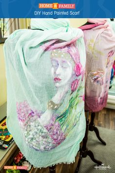 Hand Painted Scarves - @tmemme28 shows you add to add a personal touch to your silk scarves! Catch Home and Family weekdays at 10/9c on Hallmark Channel!
