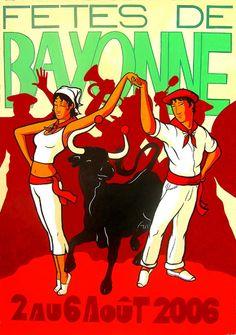 Erwin DAZELLE - Fêtes de Bayonne 2006 sur Dazelle.com Basque Country, Aquitaine, Illustrations, Catering, France, Biarritz, Inspiration, Posters, Carnival