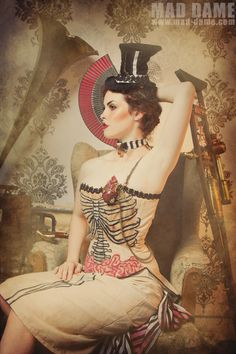 Steam up 3 by ~mad-dame  #Steampunk Pin-up