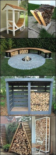 Firewood Storage Ideas theownerbuilderne... Do you have a wood burning fireplace or even a fire pit at home? If you use one to make your house warm and cosy during the winter, you might want to look at this collection of great firewood storage ideas!Source by karenbeyer8586