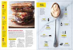 Sandwich Primer — Timothy McSweeney Magazine Design, Magazine Layouts, Editorial Layout, Editorial Design, Mise En Page Magazine, Sandwich Packaging, Grid, Catalogue Layout, Cookbook Design