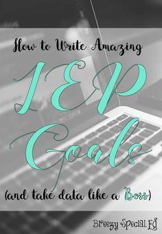 How to write IEP goa