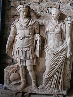 Roman Emporer Nero and his mother, Empress Agrippina. Examples tunics.