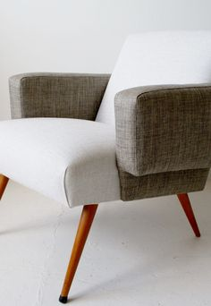 1950s French midcentury armchair. Two tone