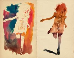lions illustrations-sketches