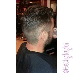 Gents cut today👨 faded back and sides & a thick, wavy cut styled on the top🌊