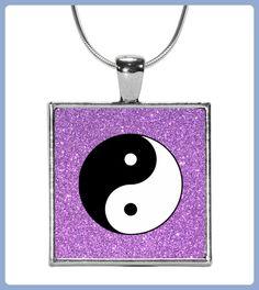 Yin Yang mit Lila Glitzer Yoga (*Partner Link)