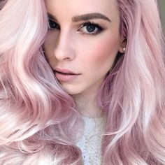 New hair pink pastel blonde cotton candy Ideas Pastell Pink Hair, Light Pink Hair, Pale Pink Hair, Dusty Pink, Pastel Blonde, Dyed Hair Pastel, Pastel Pink, Pink Blonde Hair, Pink Dye