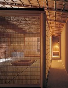 To separate the first-floor receiving room—which has a central sunken hearth—from the entrance hall, the architect placed a reed screen on one side and a shoji screen on another Japanese Style House, Japanese Interior Design, Japanese Home Decor, Japanese Modern, Japanese Design, Architectural Digest, Le Style Zen, Japan Interior, Shoji Screen