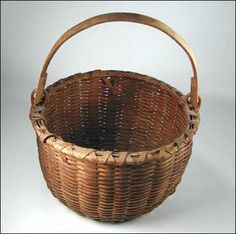 Antique Taghkanic Bushwhacker Swing Handle Basket 19th Century Vintage