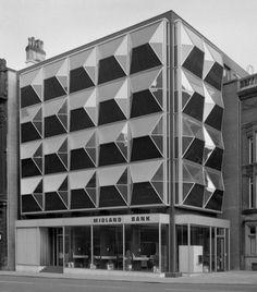 Midland Bank, Dale Street, Liverpool Photographed in 1972 via Bernard Rose Modern Architecture Design, Facade Design, Gothic Architecture, Interior Architecture, Midland Bank, Facade Pattern, Architectural Pattern, Design Thinking Process, Vintage Hotels