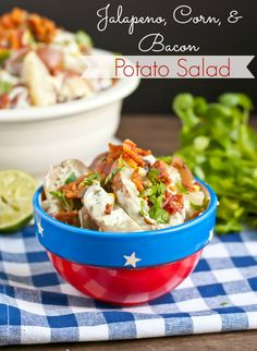 Grilled Jalapeno, Bacon, and Corn Potato Salad is such a hit at BBQs!