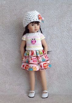 "Handknitted outfit for 13"" dolls Dianna Effner Little Darling,Betsy McCall,MARU #DiannaEffner"