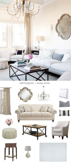 TOTAL|$2,483 sofa $493|chandelier $326|lamp $99chair $326|coffee table $255|mirror $150side table $68|ottoman $430|striped pillow $25leopard pillow $32|white and blue pillow(ea) $50ru