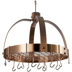 The Old Dutch International Steel Dome Hanging Pot Rack is the perfect way to save space in a small kitchen. With plenty of hanging space for pots and pans, you can save room in your cabinets. Pot Rack Hanging, Hanging Pots, Thing 1, Copper Pots, Joss And Main, Wedding Bands, Metallic, Steel, Ebay
