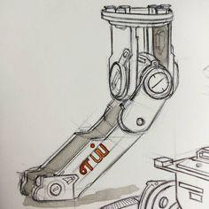 Doing some mech studies . . . . #mech #mechanic #machine #sketchbook #hardsurface #conceptart #conceptartist #artistoninstagram #artoninstagram #sketch #drawing #construction #ballpoint #sketching #industrialdesign #designer #artist #painter