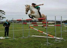 "Alycia Burton on 9-yr-old ""Classic Goldrush"" ... see the video as well ... amazing horsemanship"