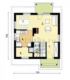 Каркасные дома 8 на 8 с мансардой –про технологию, советы по строительству и примеры проектов Floor Plans, Floor Plan Drawing, House Floor Plans