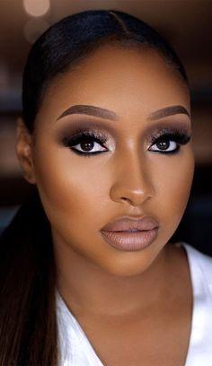 Black Wedding Makeup, Makeup For Black Skin, Best Wedding Makeup, Black Girl Makeup, Wedding Makeup Looks, Girls Makeup, Wedding Makeup Tutorial, Natural Glam Makeup, Natural Wedding Makeup