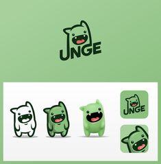 Mascot style logo design and avatar for Twitch streamer UNGE. Design by Ricky AsamManis. Web Design, Icon Design, Design Ideas, Logo Inspiration, Cartoon Logo, Cartoon Drawings, Type Logo, Game Logo Design, Mascot Design