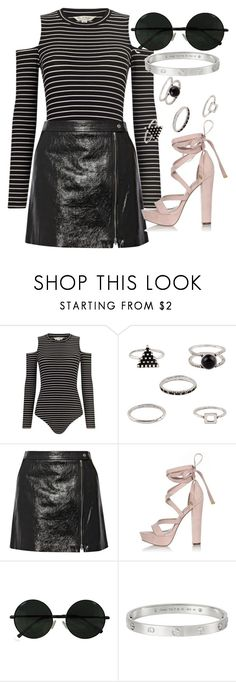 """Untitled #4348"" by olivia-mr ❤ liked on Polyvore featuring Miss Selfridge, Theory, River Island and Cartier"