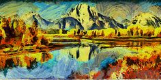 Paisaje impresionista, #abstracto, #vangogh, #impresionismo, #expresionista